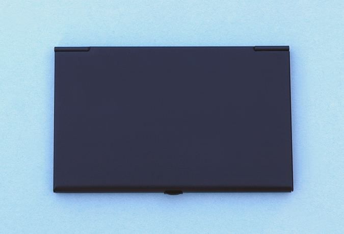 Engravable black anodized aluminum lightweight business card case back of anodized aluminum case colourmoves