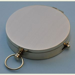 Engravable Brushed Large Brass Pocket Compass