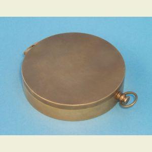 Engravable Antique Large Brass Pocket Compass