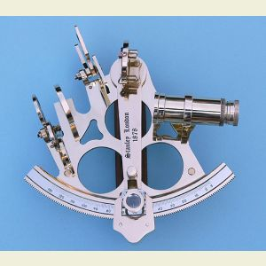 Five-inch Solid Brass Rack and Pinion Sextant with Case