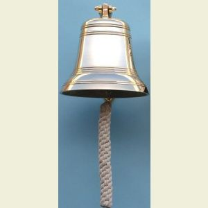 Nine Inch Diameter Brass Ship's Bell