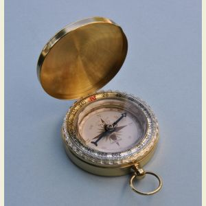 Engravable Wilderness Scouting Brass Pocket Compass