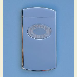 Dalvey Stainless Steel Business Card Case with Hinged Lid