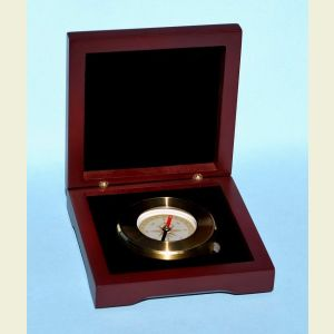 Engravable Luminescent Paperweight Compass with Hardwood Box
