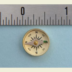 Engravable Large Military Special Forces Survival Button Compass
