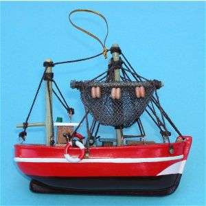 Fishing Trawler Miniature Ships Model and Ornament