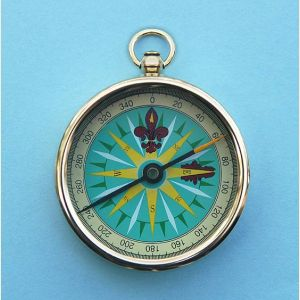 Engravable 2-inch Open Faced Brass Pocket Compass