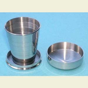 Engravable 2 oz. Stainless Steel Collapsible Cup