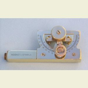 Engravable 5-inch Solid Brass Abney Level