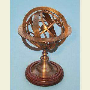 Regular Sized Brass Demonstrational Armillary Sphere