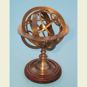 Medium Sized Brass Demonstrational Armillary Sphere
