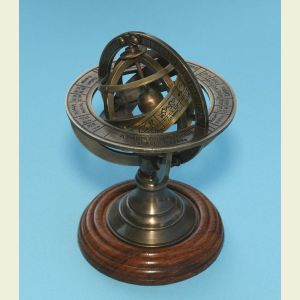 Small Brass Demonstrational Armillary Sphere