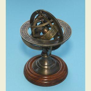 Small Brass Demonstrational Armillary Sphere