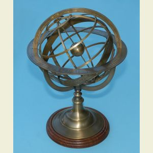 Large Brass Demonstrational Armillary Sphere