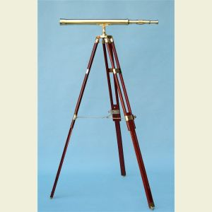 30-Inch Brass Telescope on Hardwood Tripod