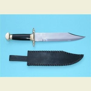 Bowie Knife with Leather Sheath
