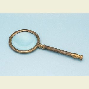 Antique Patina Brass Hand Magnifier