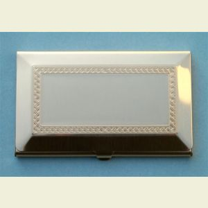 Brushed Brass Finish Business Card Case