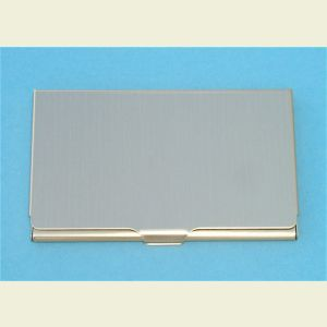 Slim Brass Finish Business Card Case