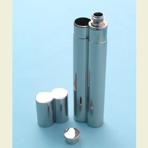 Stainless Steel Flask and Single Cigar Holder
