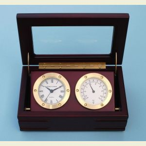 Stanley London Boxed Quartz Clock and Thermometer