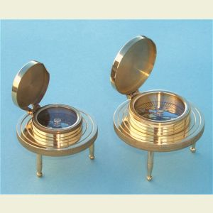 Brass 3-Leg Desk Compass