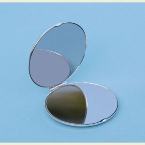 Engravable Silver Plated Ultra Thin Compact Mirror