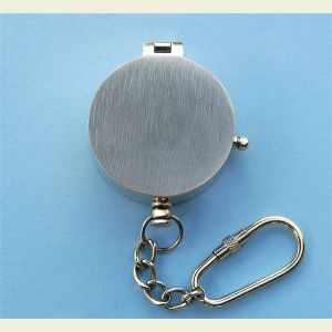 Engravable Brushed Medium Brass Pocket Compass Key Chain
