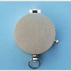 Engravable Brushed Medium Brass Pocket Compass