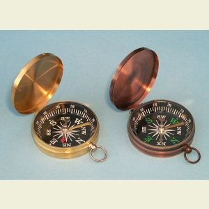 Lightweight Brass Pocket Compass