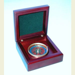 Mahogany Desk Compass
