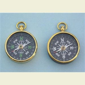 Open Face Brass Pocket Compass