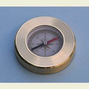 Engravable Liquid Damped Luminescent Paperweight Compass