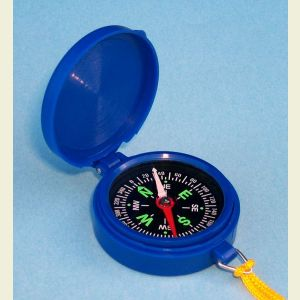 Plastic Backpacker's Liquid Damped Compass