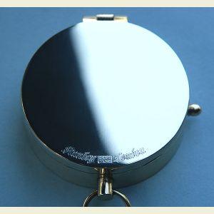 Engravable Standard Polished Brass Pocket Compass (Stanley London)