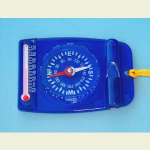 Survival Compass, Thermometer, and Whistle