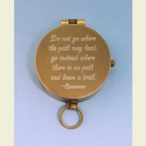 Antique Medium Brass Pocket Compass Top View