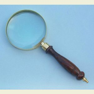 Brass and Hardwood Hand Magnifier