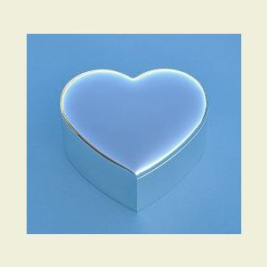 Small Nickel Plated Heart Shaped Jewelry Box