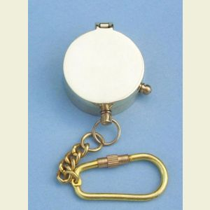 Engravable Miniature Brass Pocket Compass Key Chain