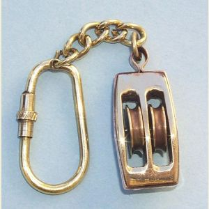 Brass Pulley Key Chain