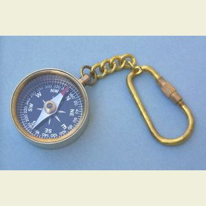 Open-Face Miniature Key Chain Compass