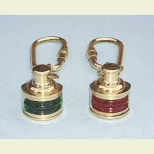 Brass Navigation Light Key Chains