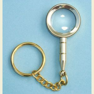 Brass Magnifier Key Chain