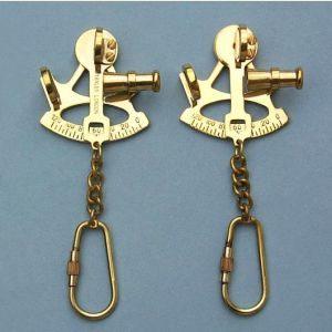 Brass Sextant Key Chain
