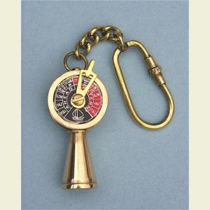 Brass Ship's Telegraph Key Chain