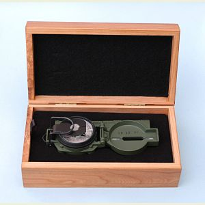 Engravable Cammenga Mil-Spec Tritium Military Lensatic Compass with Pouch and Box
