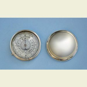 Engravable Large Polished Brass Sundial Compass with Removable Lid