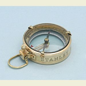 Engravable Brass Map Magnifier Compass and Hardwood Case