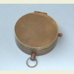 Engravable Antique Medium Brass Pocket Compass